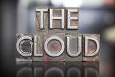 The Cloud Letterpress — Stock Photo