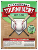 Baseball Tournament Illustration — Stock Vector