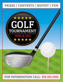 Golf Tournament Flyer — Stock Vector