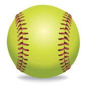 Softball Isolated on White Illustration  — Stock Vector