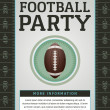 American Football Party Flyer — Stock Vector #49385357
