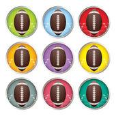 American Football Labels — Stock Vector