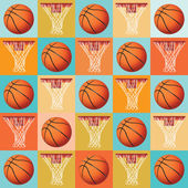 Basketball Pattern Background — Stock Vector