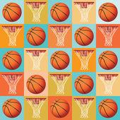 Basketball Pattern Background — Stock Vector