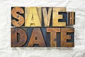 Save the Date Letterpress — Stock Photo