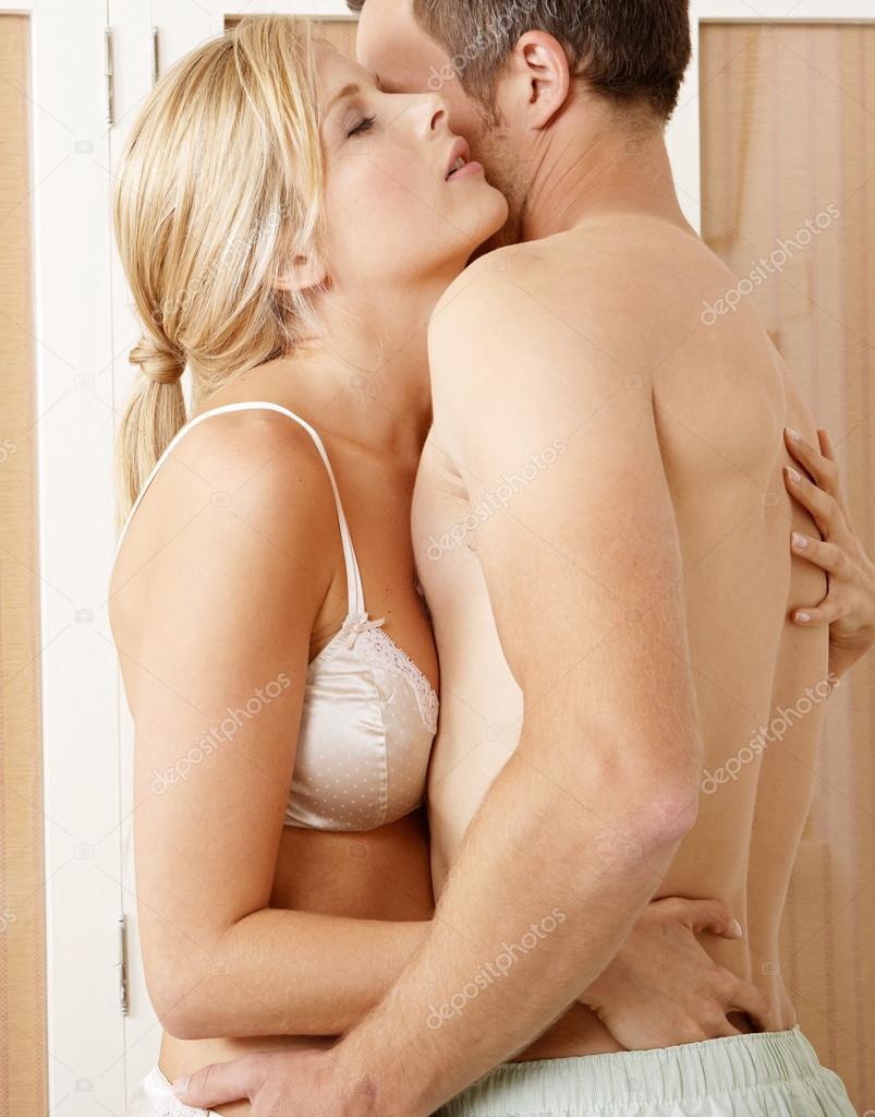 Nude couple hugging galleries