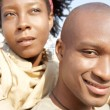 Attractive african american couple visiting the Tower of London — Stok fotoğraf