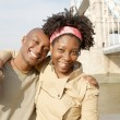 Young attractive black couple visiting the Tower of London — Stock Photo #20082975