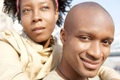 Attractive african american couple visiting the Tower of London — Stockfoto