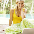 Attractive woman using a laptop computer — Stock Photo #21100507