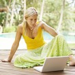 Attractive woman using a laptop computer — Stock Photo #21100515