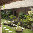 Courtyard of a holiday villa in an exotic location. - Stockfoto