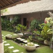 Courtyard of a holiday villa in an exotic location. - Photo