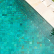 Blue swimming pool with mosaic tiles — Stock Photo #21103925