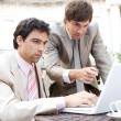Two businessmen focused on having a meeting — Stock Photo