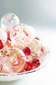 Mountain of quality glass Christmas balls — Stock Photo