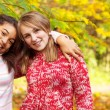 Portrait of two diverse teenagers — Stock Photo