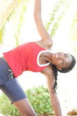 Attractive  woman stretching — Stock Photo