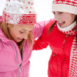 Two young women in winter outdoors — Stock Photo #42539683