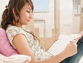 Student woman studying — Stock Photo