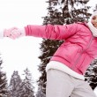 Girls  in snow mountains — Stock Photo #42540415