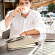 Businessman drinking coffee — Stock Photo #42605491