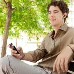 Businessman using his smart phone — Stock Photo #42605837