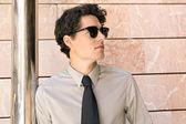 Moda uomo d'affari — Foto Stock