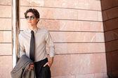 Fashionable businessman — Stock Photo
