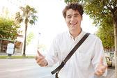 表現力豊かなビジネスマン — ストック写真