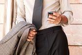 Geschäftsmann mit ein smart phone — Stockfoto
