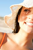 Attractive woman on a beach — Stock Photo