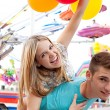 Young couple being playful — Stock Photo #43517319