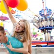 Young couple being playful — Stock Photo #43517825