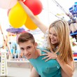 Young couple being playful — Stock Photo #43518821