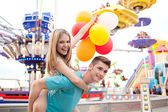 Young couple being playful — Stock Photo