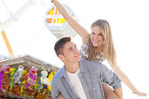Joyful young couple — Stock Photo
