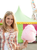 Young fun teenager girl — Stock Photo