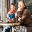 Couple sitting at cafe — Stock Photo #44204875