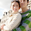Japanese tourist couple — Stock Photo