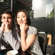 Couple sitting  at  coffee shop — Stock Photo #44205213