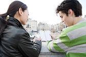 Japanese couple visiting London — Stock Photo