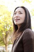 Attractive Japanese tourist woman — Stock Photo