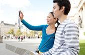 Japanese tourist couple — Stock Photo