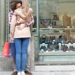 Couple hugging in destination city — Stock Photo #45065023