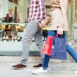 Tourist couple walking — Stock Photo #45065025