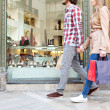 Tourist couple walking — Stock Photo #45065157