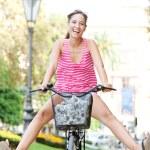 Woman riding a bike — Stock Photo #45206933