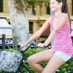 Woman riding a bike — Stock Photo #45206937