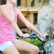 Woman  riding a bike — Stock Photo #45207091